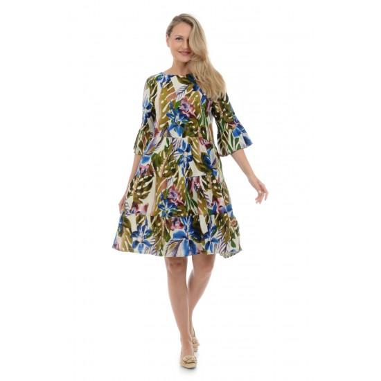 Rochie Dama Clos cu Imprimeu Multicolor