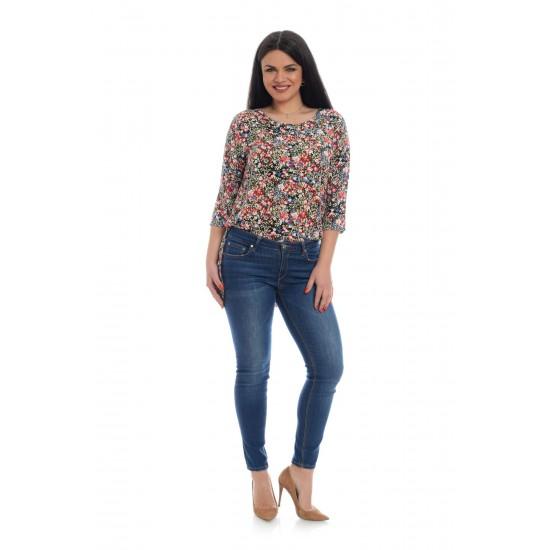 Tunica Dama cu Microimprimeu Floral Multicolor