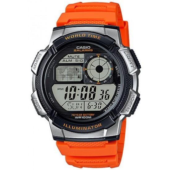 Ceas Barbati ILLUMINATOR WORLD TIME AE-1000W-4B