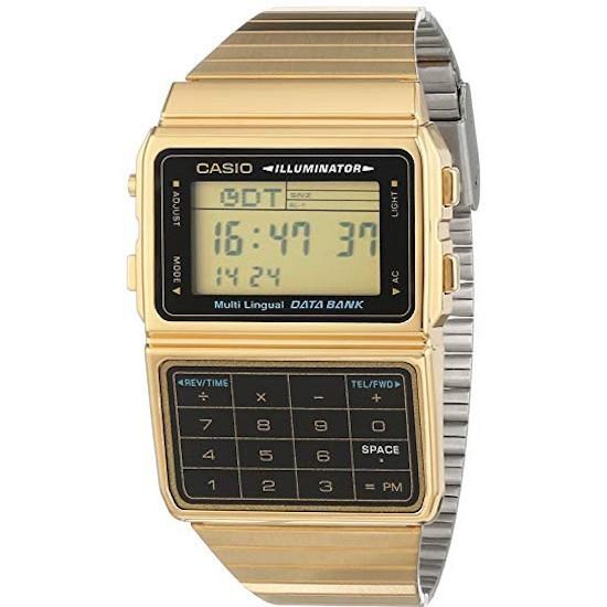 Ceas Unisex,  Casio, Databank Calculator Gold DBC-611G-1DF