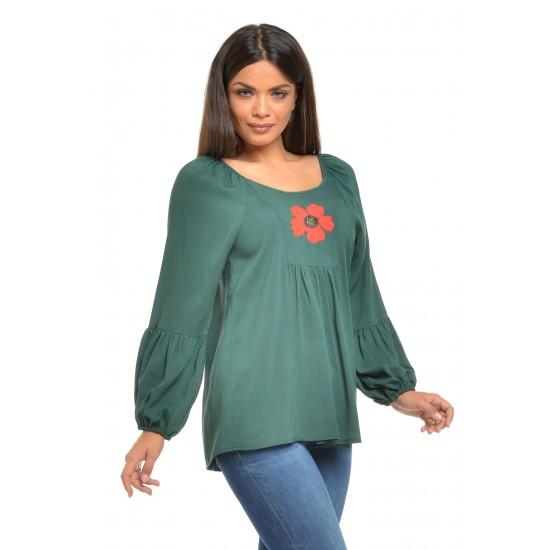 Bluza Dama platca Verde Boho