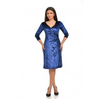 Rochie albastra de catifea