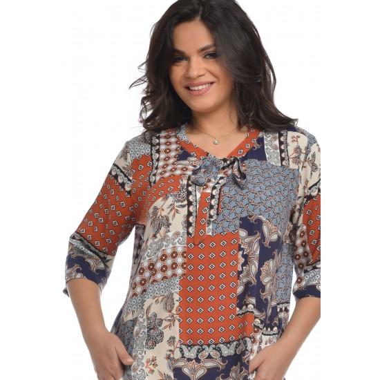 Camasa patchwork Dama cu Imprimeu