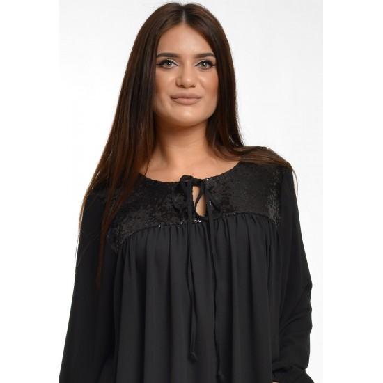 Bluza Dama Platca Neagra cu Paiete