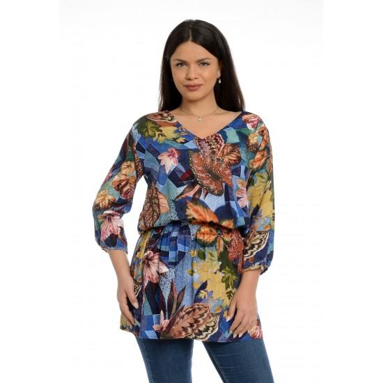 Tunica dama Multicolor cu Flori