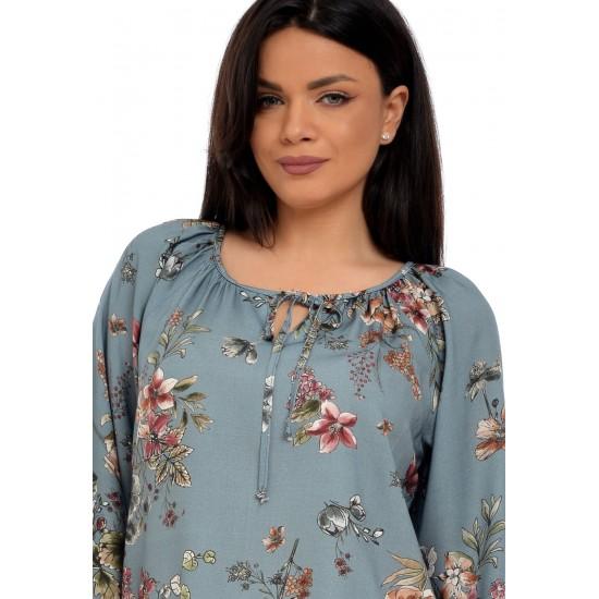 Bluza Dama Gri cu flori