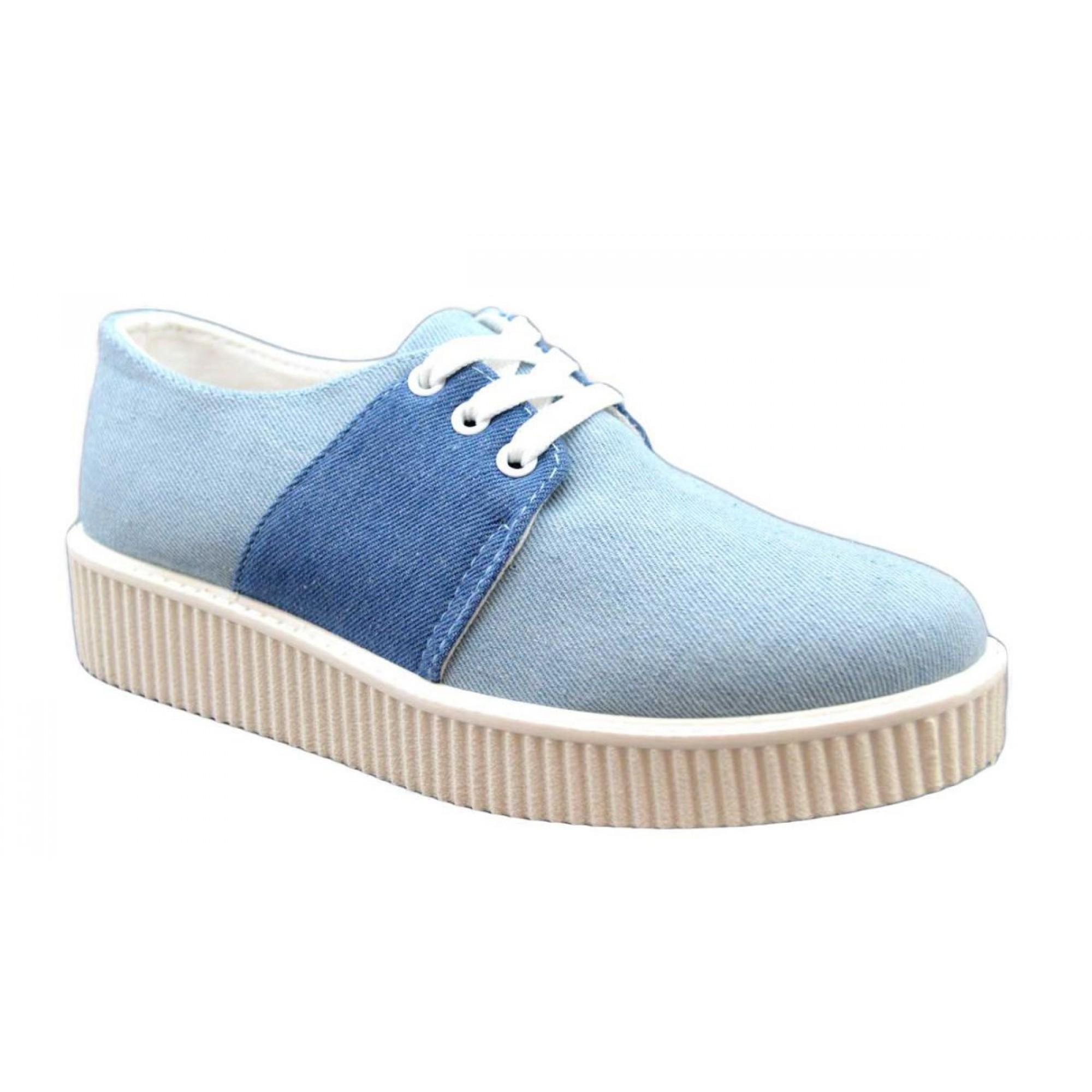 pantofi sport dama albastri cu talpa groasa. Black Bedroom Furniture Sets. Home Design Ideas