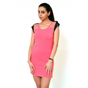 Rochie roz cu tinte model Sonia