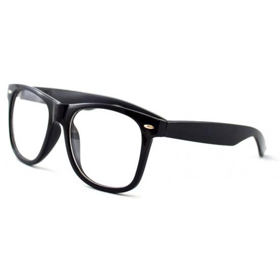 Ochelari tip rame cu lentile transparente Wayfarer Negru Passenger
