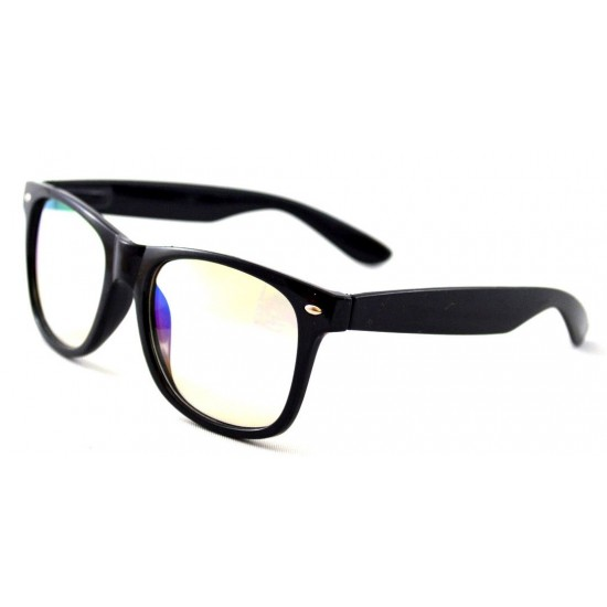 Ochelari - Rame Wayfarer cu lentile transparente sidefate