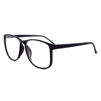 Ochelari cu lentile transparente Wayfarer Justin Negru