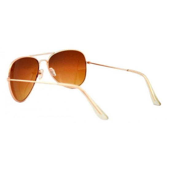Ochelari de soare Aviator culoare Maro - Gold