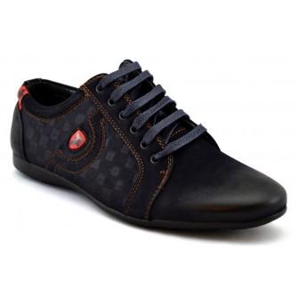 Pantofi Sport Barbatesti Bleumarin carouri