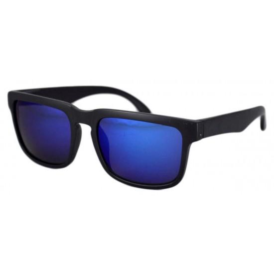 Ochelari de soare Wayfarer Passenger Neway Albastru reflexii - Negru mat