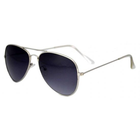 Ochelari de soare Aviator Bleumarin - Argintiu