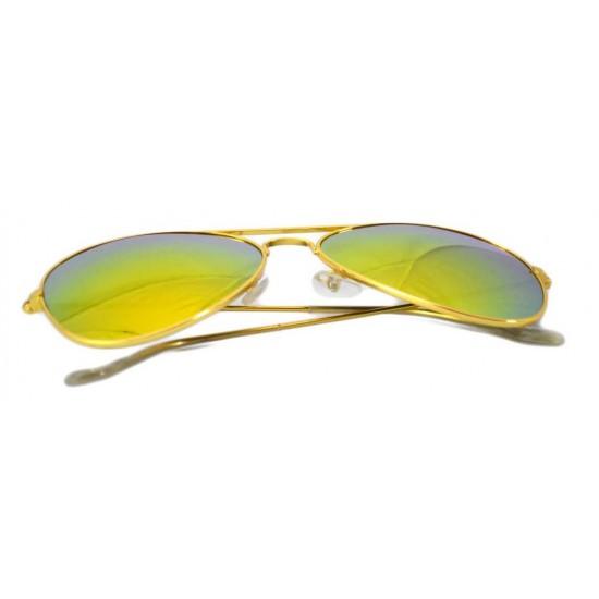 Ochelari de soare Aviator - Orange/Gold'