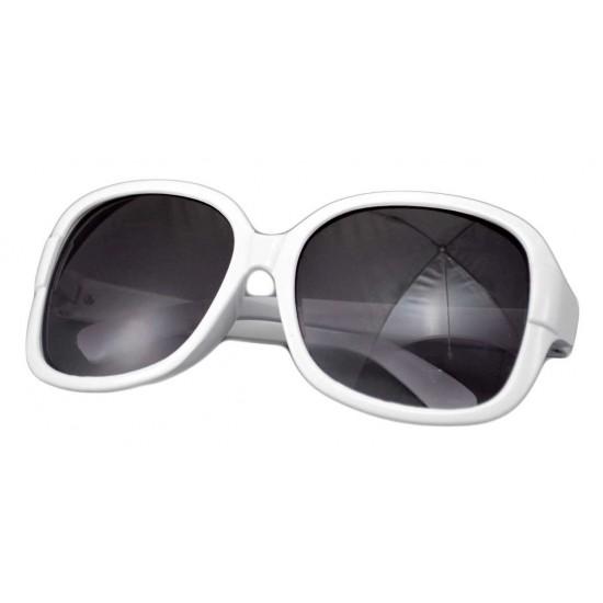 Ochelari de soare Rectangular Alb'