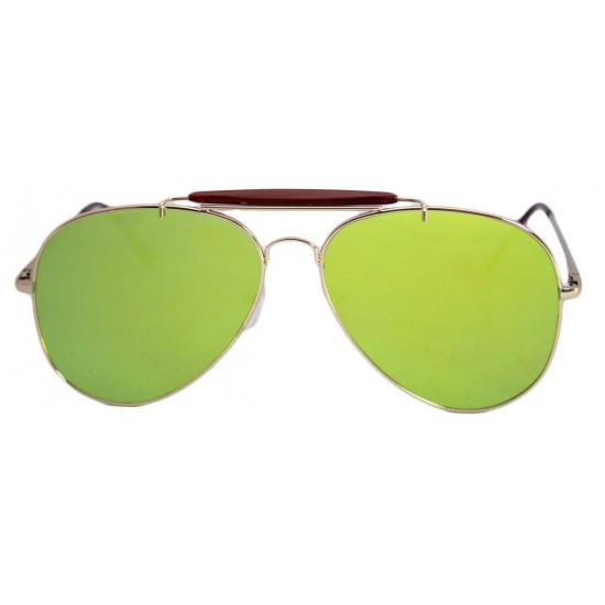 Ochelari de soare Aviator Outdoorsman Verde deschis reflexii - Auriu-