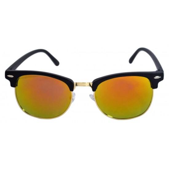 Ochelari de soare Clubmaster Retro II Portocaliu cu reflexii - Auriu'
