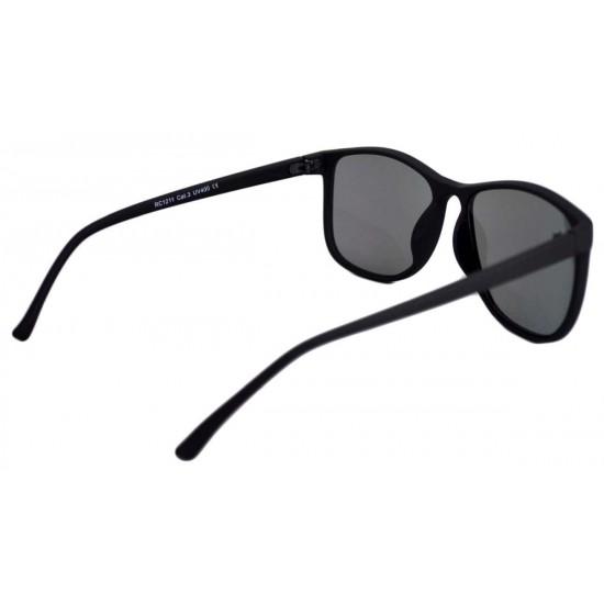 Ochelari de soare Wayfarer Justin verde reflexii - Negru Mat