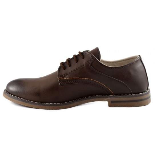 Pantofi barbatesti maro inchis - Dark