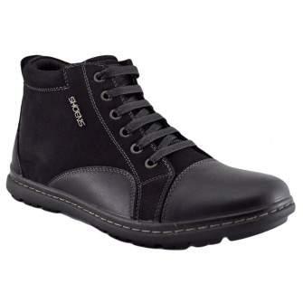 Pantofi Sport tip Ghete Barbatesti negri Inalti ShoeNS