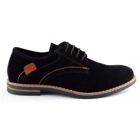 Pantofi barbatesti negri piele intoarsa