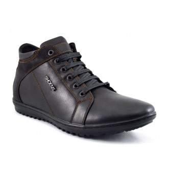 Pantofi Sport tip Ghete Barbatesti negri piele Inalti ShoeNS