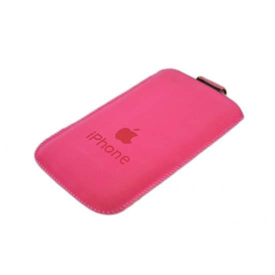 Husa din piele pentru iPhone3/3G/3GS/4/4S Roz