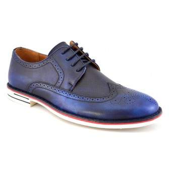 Pantofi barbatesti bleumarin eleganti vintage