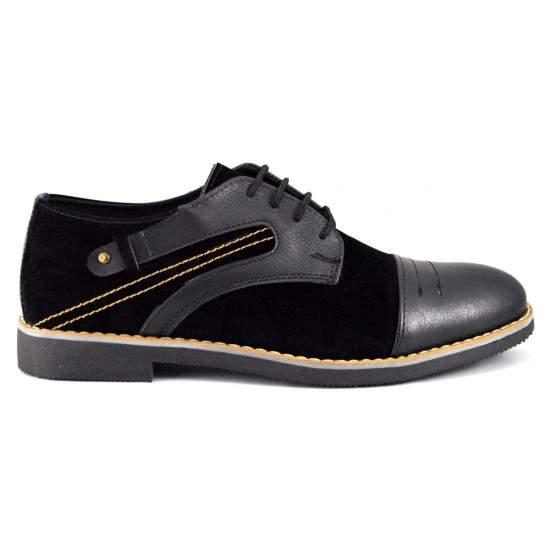 Pantofi Casual Barbatesti Negri cu insertii