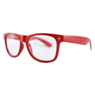 Ochelari - Rame cu lentile transparente tip Passenger Rosu
