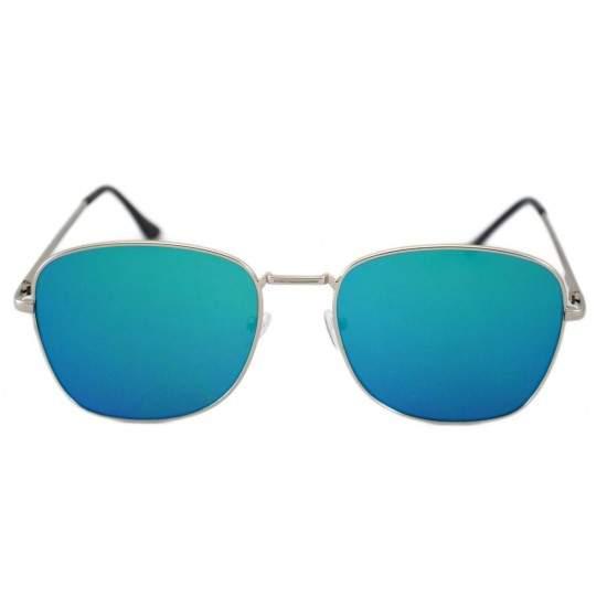 Ochelari de soare Aviator Oglinda Albastru reflexii cu Argintiu