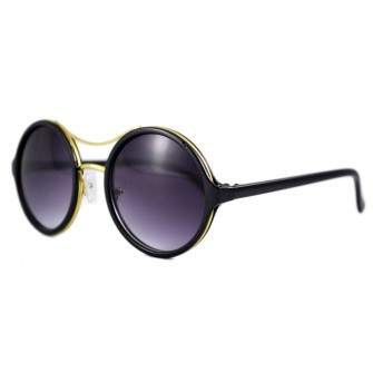 Ochelari de soare Rotunzi II Mov inchis - Negru/Auriu