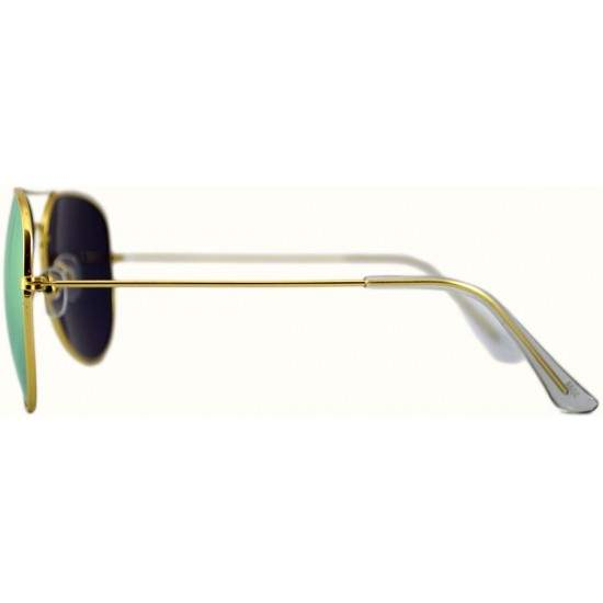 Ochelari de soare Aviator Roz Oglinda - Auriu