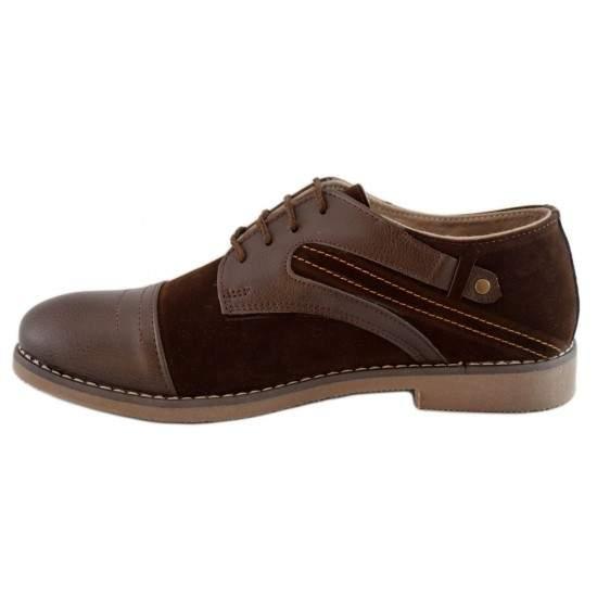 Pantofi Casual Barbatesti Maro cu insertii
