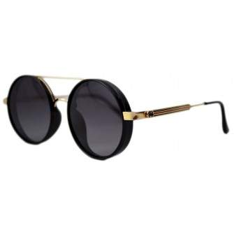 Ochelari de soare Rotunzi Negru Full 2 - Auriu