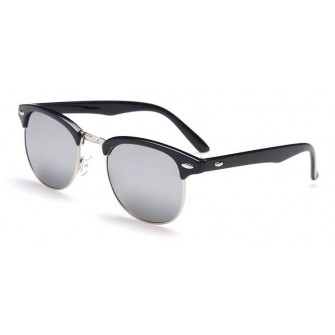 Ochelari de soare Retro Gri Oglinda - Argintiu
