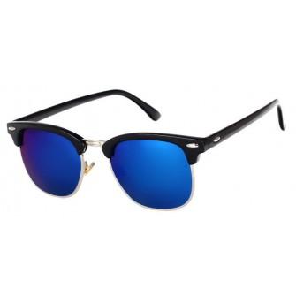 Ochelari de soare Retro Albastru inchis - Negru
