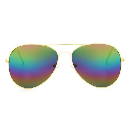 Ochelari de soare Aviator  - 3 nuante cu reflexii - Gold'