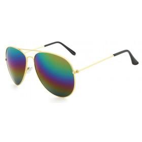 Ochelari de soare Aviator  - 3 nuante cu reflexii - Gold