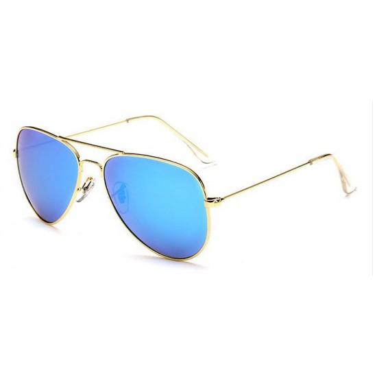 Ochelari de soare Aviator Bleu cu Auriu