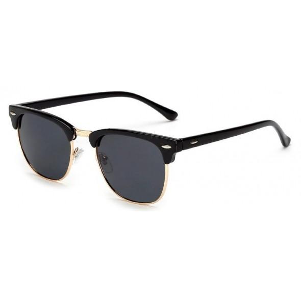 Ochelari de soare Retro Bleumarin - Auriu
