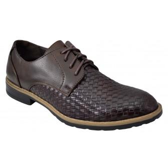 Pantofi maro barbati model Aligator