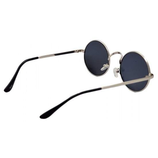 Ochelari de soare Rotunzi Retro John Lennon Bleumarin cu Argintiu