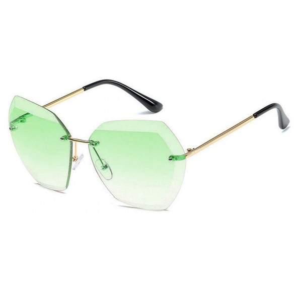 Ochelari de soare Rectangulari Verde Degrade