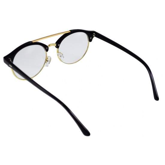 Ochelari - Rame cu lentile transparente Clubmaster Retro Round