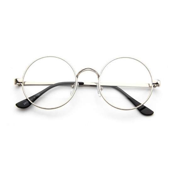 Ochelari - Rame cu lentile transparente Harry Potter Rotund John Lennon Argintiu