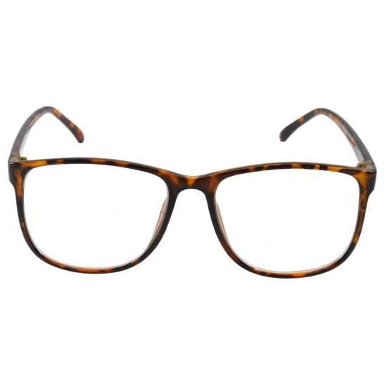 Ochelari cu lentile transparente Wayfarer Justin model Leopard