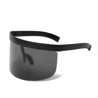 Ochelari de soare intregi supradimensionati negri tip sudor